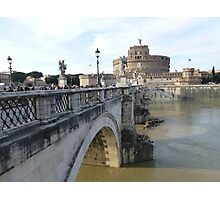 Castle St. Angelo in Rome, Italy Photographic Print