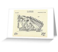Calculating Machine-1888 Greeting Card