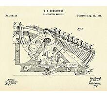 Calculating Machine-1888 Photographic Print