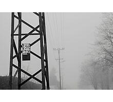 Caution Photographic Print