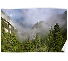 Landscape with mountains and clouds Poster