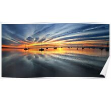 Sunrise over Corio Bay - Geelong Poster