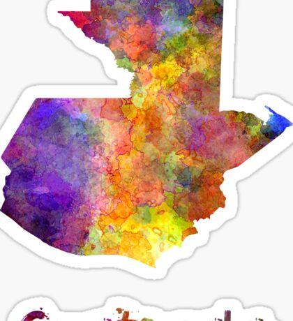 Guatemala  in watercolor Sticker