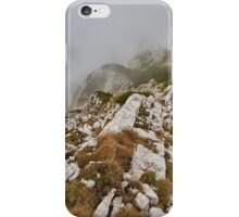 Landscape with mountains and clouds iPhone Case/Skin