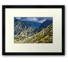 Mountain landscape on summer Framed Print