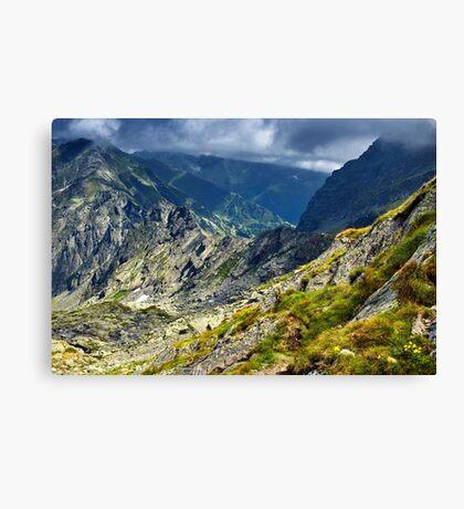 Mountain landscape on summer Canvas Print