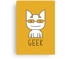 Cat Geek Mode Canvas Print