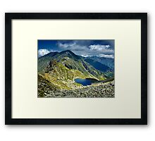 Mountain landscape in the summer Framed Print