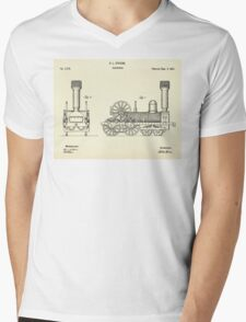 Locomotive-1842 Mens V-Neck T-Shirt
