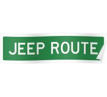 JEEP ROUTE Poster