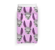 Funny donkey (pink/purple) Duvet Cover
