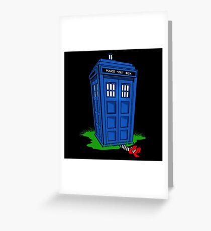 Wicked Tardis Greeting Card