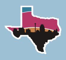 San Antonio Skyline Spurs Baby Tee
