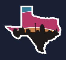 San Antonio Skyline Spurs Kids Tee
