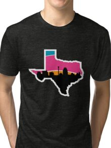 San Antonio Skyline Spurs Tri-blend T-Shirt