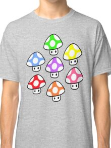 Colorful Mario Mushrooms Classic T-Shirt