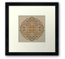 - Oriental flower pattern - Framed Print