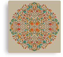 - Oriental flower pattern - Canvas Print