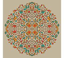 - Oriental flower pattern - Photographic Print