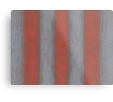 """""""Grey and orange stripes"""" abstract pattern, pastel texture, handdrawn,  Metal Print"""