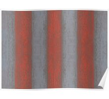 """""""Grey and orange stripes"""" abstract pattern, pastel texture, handdrawn,  Poster"""