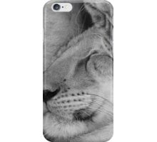 Lion cubs black and white iPhone Case/Skin