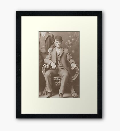Butch Cassidy - Outlaw Portrait Framed Print
