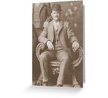 Butch Cassidy - Outlaw Portrait Greeting Card