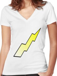LIGHTNING Women's Fitted V-Neck T-Shirt