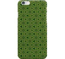 green_cyber_honeycomb iPhone Case/Skin