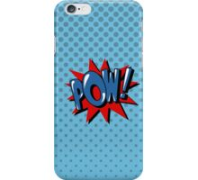 Comics Bubble with Expression Pow in Vintage Style. iPhone Case/Skin