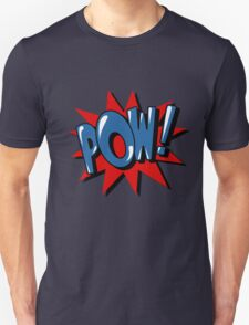 Comics Bubble with Expression Pow in Vintage Style. Unisex T-Shirt