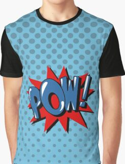 Comics Bubble with Expression Pow in Vintage Style. Graphic T-Shirt