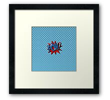 Comics Bubble with Expression Pow in Vintage Style. Framed Print