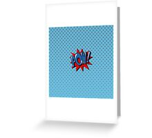 Comics Bubble with Expression Pow in Vintage Style. Greeting Card