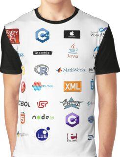 programming languages logos lenguajes programacion Graphic T-Shirt
