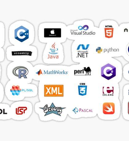 programming languages logos lenguajes programacion Sticker