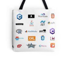 programming languages logos lenguajes programacion Tote Bag