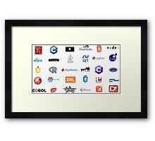 programming languages logos lenguajes programacion Framed Print