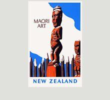 New Zealand Maori Art Vintage Poster Restored Unisex T-Shirt