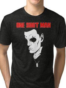 Saito (ghost in the shell) - One Shot man Tri-blend T-Shirt