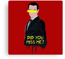 Sherlock Moriarty Do You Miss Me Canvas Print