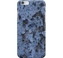 Blue damaged paint iPhone Case/Skin