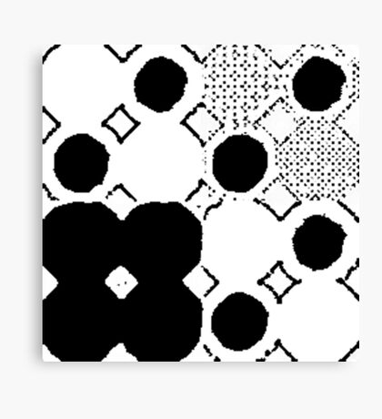 Black and White Boho Chic Canvas Print