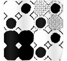 Black and White Boho Chic Poster