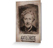 Agatha Christie Greeting Card