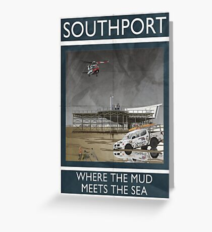 Southport - Where The Mud Meets The Sea Greeting Card
