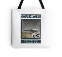 Southport - Where The Mud Meets The Sea Tote Bag