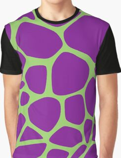 Animal Print (Giraffe Pattern) - Purple Green  Graphic T-Shirt