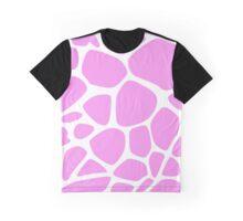 Animal Print (Giraffe Pattern) - Pink White  Graphic T-Shirt